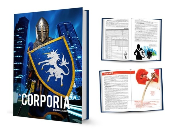 Corporia prototype cover and interiors
